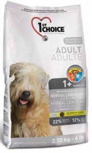 1st Choice Adult Dog All Breeds Hypoallergenic Potatoes & Duck Formula 2,72kg