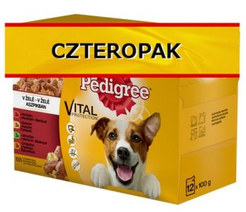 Pedigree Adult Mix Smaków 4x(12x100g) - pakiet 48 saszetek