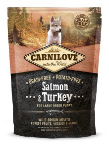Carnilove Salmon & Turkey for Large Breed Puppy 1,5 kg x 3szt