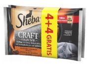 Sheba Craft Collection Soczyste smaki saszetki 4+4 gratis 8x85g