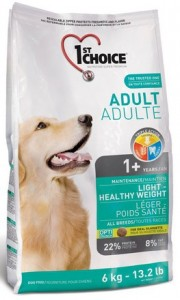 1st Choice Adult Dog All Breeds Light - Healthy Weight 6kg