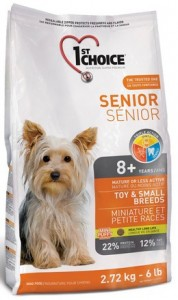 1st Choice Senior Dog Mature or Less Active Toy & Small Breeds 7kg