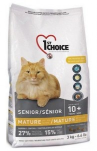 1st Choice Senior Cat Mature or Less Active Chicken Formula 5,44kg