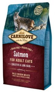 Carnilove Cat Salmon Sensitive & Long Hair - łosoś 2kg