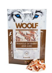 Woolf Przysmak RABBIT AND COD TRIANGLE 100g
