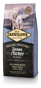Carnilove Salmon & Turkey for Puppies 1,5 kg x 3szt