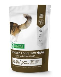 Nature's Protection Sterilised Long Hair Poultry 400g