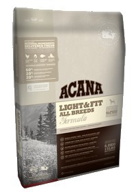Acana Heritage Light & Fit Dog 11.4kg + Puszka Evangers 369g Gratis